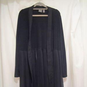 Chico's Travelers 2 L Long Knife Pleat Jacket 44""